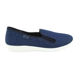Niebieskie Befado obuwie młodzieżowe pvc 401Q018