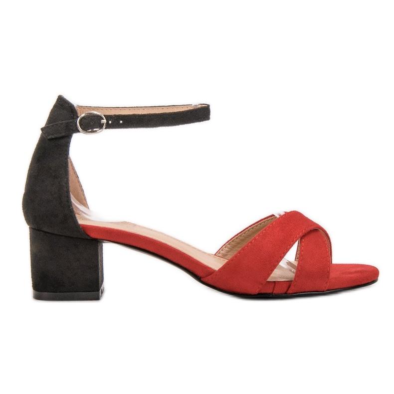 Best Shoes Stylowe Sandały Na Obcasie