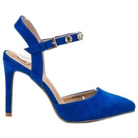 Kylie Szpilki Z Odkrytą Piętą niebieskie