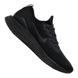 Czarne Buty biegowe Nike Epic React Flyknit 2 M BQ8928-011