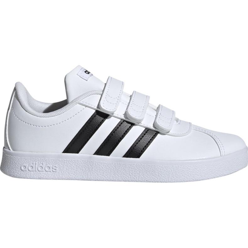 Buty Adidas Vl Court 2.0 Cmf C białe Jr DB1837