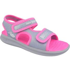 Sandały New Balance Sandal K K2031GRP różowe szare