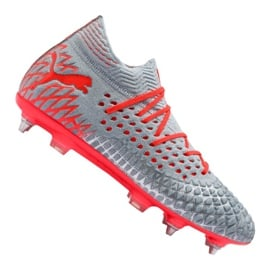 Buty piłkarskie Puma Future 4.1 Netfit Mx Sg M 105676-01 czerwony szare
