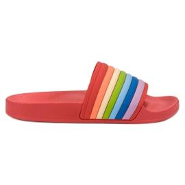 Sweet Shoes Kolorowe Gumowe Klapki