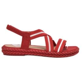 Seastar Wygodne Sandały Damskie czerwone