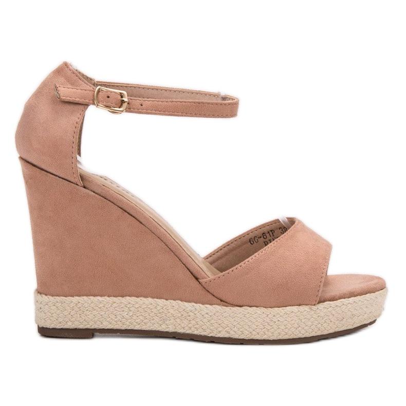 Seastar Sandały Na Koturnie różowe