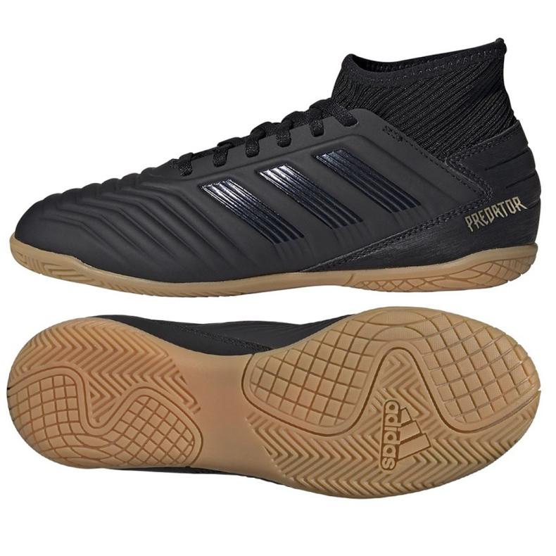 Buty halowe adidas Predator 19.3 In Jr G25805 czarne czarne