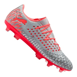 Buty piłkarskie Puma Future 4.1 Netfit Low Fg / Ag M 105730-01 szare wielokolorowe