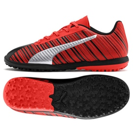 Buty piłkarskie Puma One 5.4 Tt Jr 105662 01 czerwone czarny, czerwony