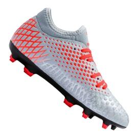 Buty piłkarskie Puma Future 4.4 Fg / Ag Jr 105696-01 czerwony, szary/srebrny szare