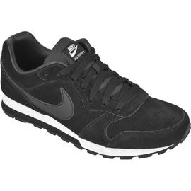 Czarne Buty Nike Sportswear Md Runner 2 Leather Premium M 819834-001