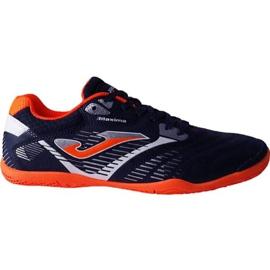Buty piłkarskie Joma Maxima 903 Sala In M granatowo pomarańczowe