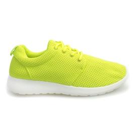 Żółte Sportowe trampki D016 Żółty
