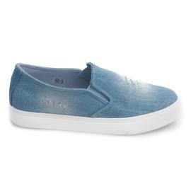 Slip On Jeans K-89 Niebieski