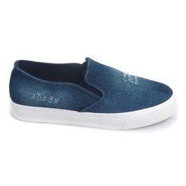 Slip On Jeans K-89 Granatowy niebieskie