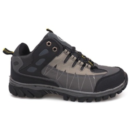 Szare męskie obuwie trekkingowe M317
