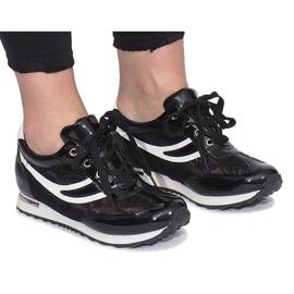 Czarne ażurowe sneakersy Mont Blanc