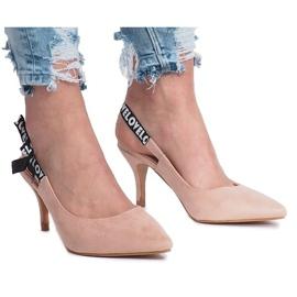 Różowe szpilki sandałki Love Paris