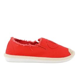Czerwone espadryle wsuwane XY2618-4