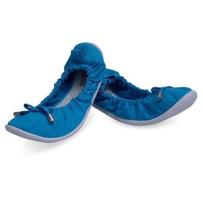Klasyczne Balerinki VB1 Niebieski niebieskie
