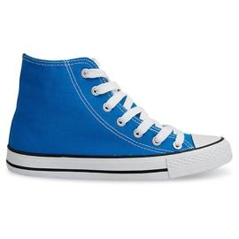 Niebieskie Wysokie Trampki Konwersy TL03 Niebieski