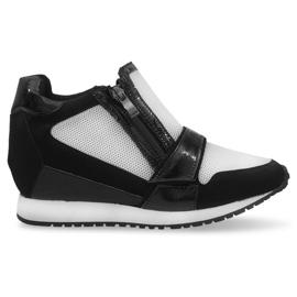 Modne Proste Sneakersy SK48 Czarny czarne