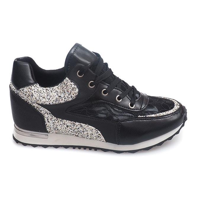 Sneakersy BK-001 Czarny czarne