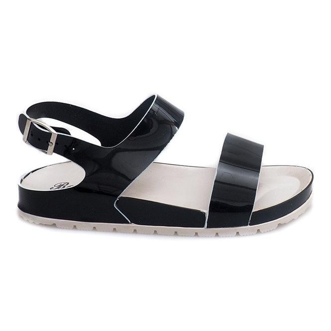 Klasyczne Sandały 6610 Czarny czarne