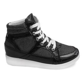 Sneakersy 306-Y Czarny czarne