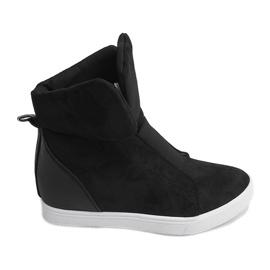 Sneakersy Na Koturnie TL088 Czarny czarne