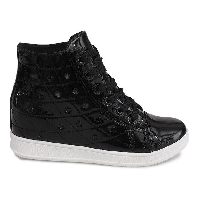Sneakersy Na Koturnie YD-61 Czarny czarne