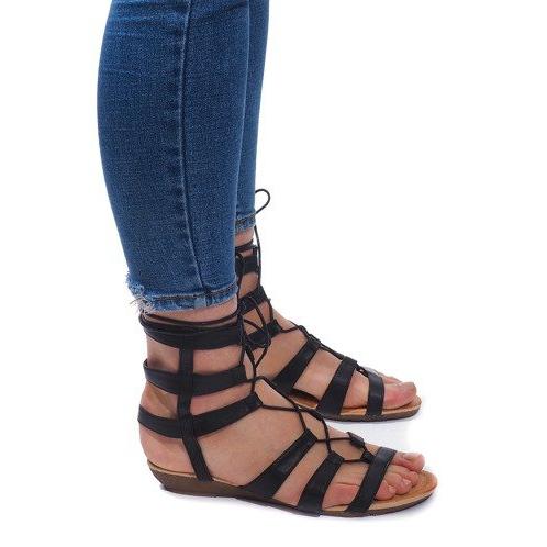Sandały Gladiatorki Rzymianki 8515 Czarny czarne