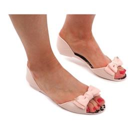 Sandały Klapki Meliski KM01 Beżowy brązowe