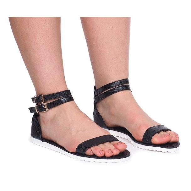 Sandały Na Zamek 50086 Czarny czarne