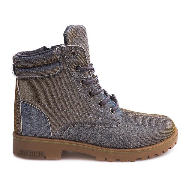 Timberki Trapery TL042-13 GREY/BROWN szare