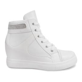 Sneakersy Na Koturnie A-35 Biały białe