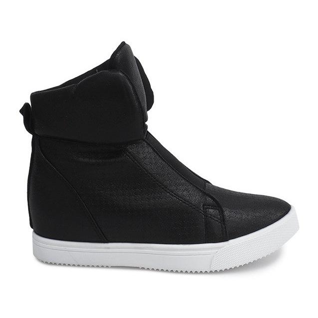 Sneakersy Na Koturnie TL088-5 Czarny czarne