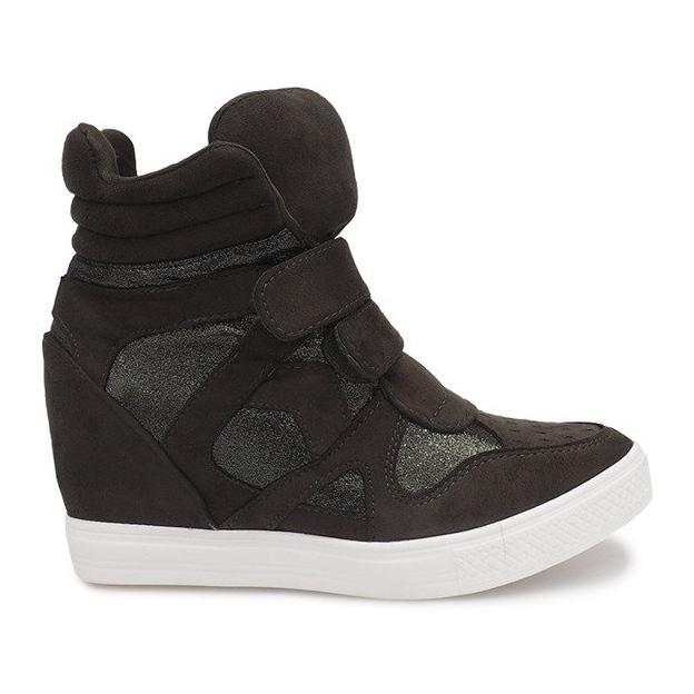 Sneakersy Na Koturnie FA147 Zielony zielone