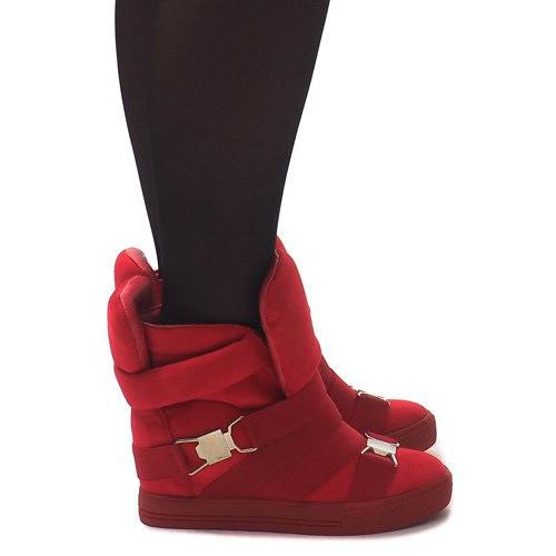 Sneakersy XW37001 Czerwony czerwone