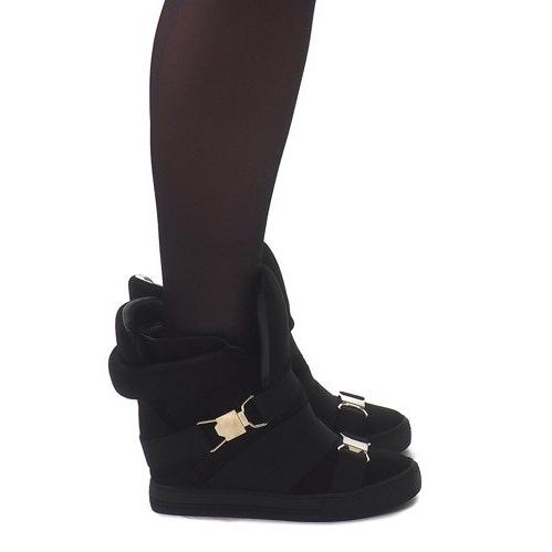Sneakersy XW37001 Czarny czarne
