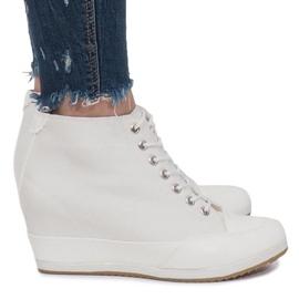 Białe Sneakersy Na Koturnie Capucine Material