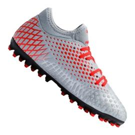 Buty piłkarskie Puma Future 4.4 Mg Jr 105697-01 czerwony, szary/srebrny szare