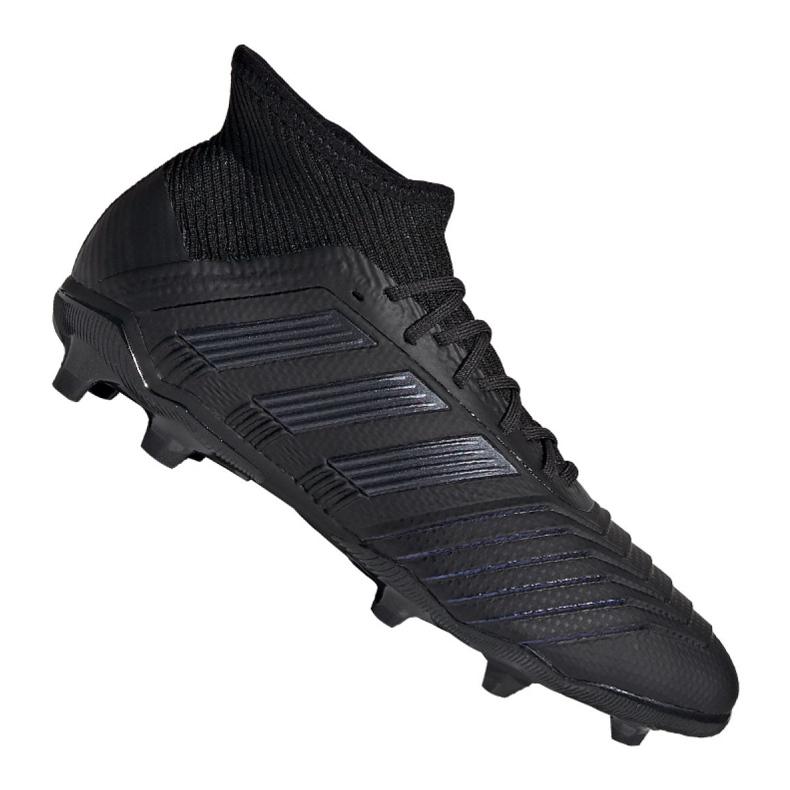 Buty piłkarskie adidas Predator 19.1 Fg Jr G25791 czarne czarny