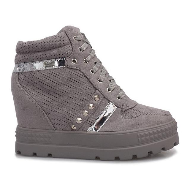 Szare zamszowe sneakersy Maxime