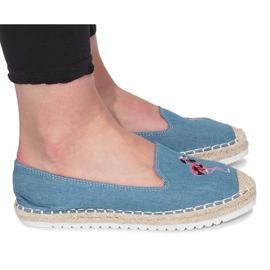 Niebieskie espadryle Flaming Jeans