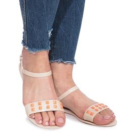 Beżowe sandały meliski Nuevo brązowe