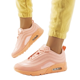 Pomarańczowe obuwie sportowe V0270-1