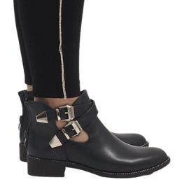 Ideal Shoes Granatowe otwarte botki Y8157