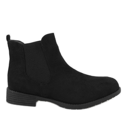 Kayla Shoes Czarne ocieplane botki DD1863-1