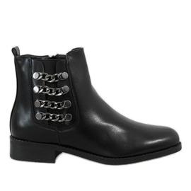 Kayla Shoes Czarne ocieplane botki 8961